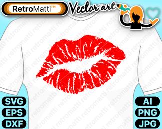 retromatti w part kissy lips