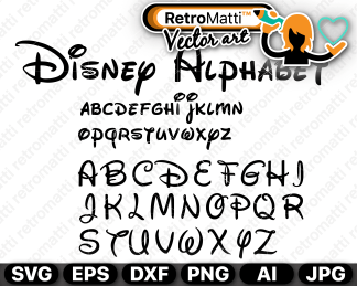retromatti w part disney alphabet
