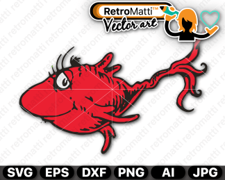 retromatti w part seuss red fish