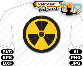 retromatti w part radiation symbol
