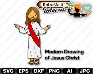 retromatti w part jesus modern