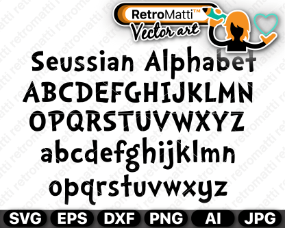 retromatti w part seuss alphabet