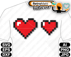 retromatti w part bit hearts