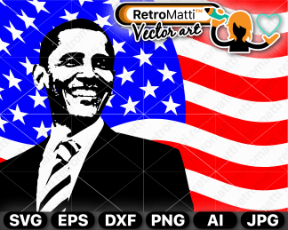 retromatti w part american flag obama