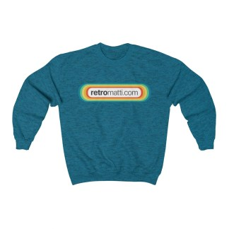 RetroMatti Full Size Front & Back Unisex Heavy Blend™ Crewneck Sweatshirt