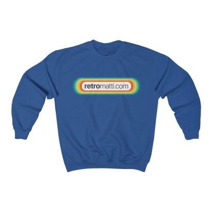 RetroMatti Full Size Front & Back Unisex Heavy Blend™ Crewneck Sweatshirt