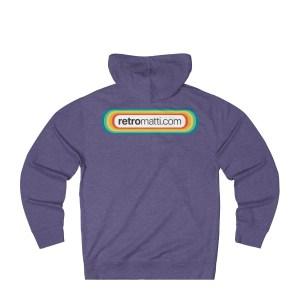 Retromatti.com Rainbow Logo on Back Unisex French Terry Hoodie