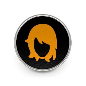 Retromatti&#;Hair&#;LogoBlackMetalPin