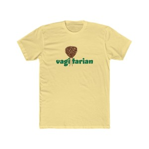 Vagitarian with Vagina Men's Cotton Crew Tee