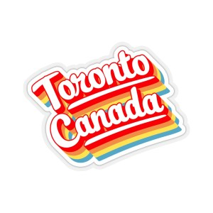 Toronto Canada retro sticker