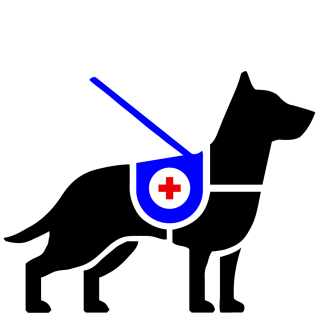 Service Dog Vector Art