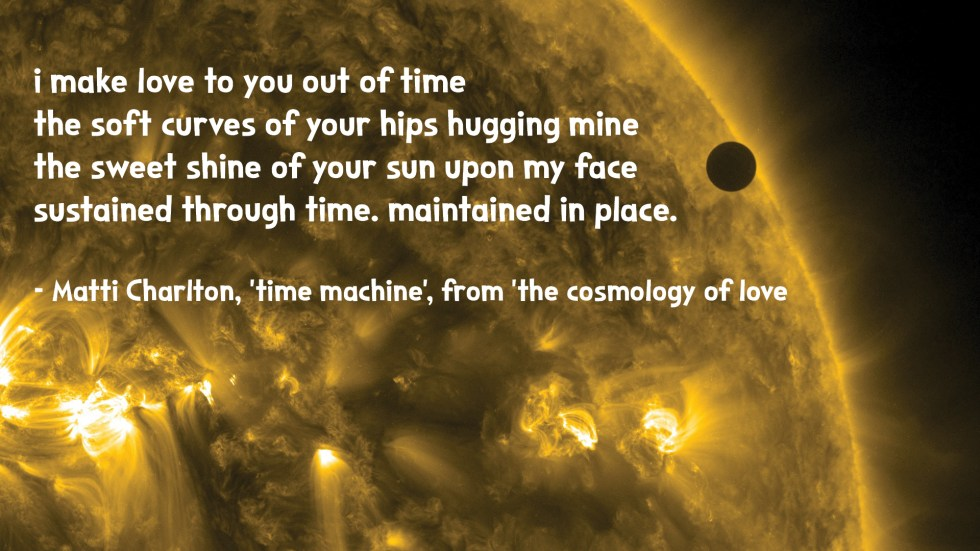 the cosmology of love poetry space image Matti charlton