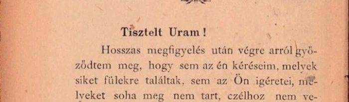 Ez óriási! Udvarias szakító levél a 19. századból