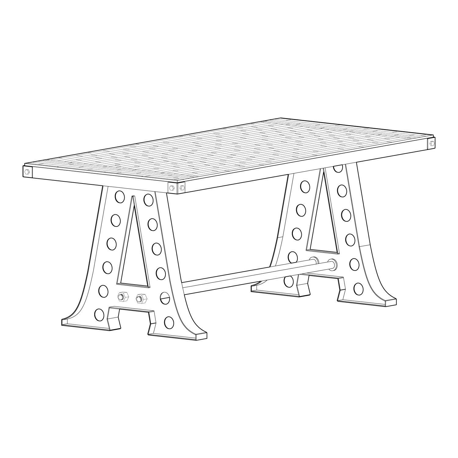 6 A Frame Dining Table Fall Sale Vintage
