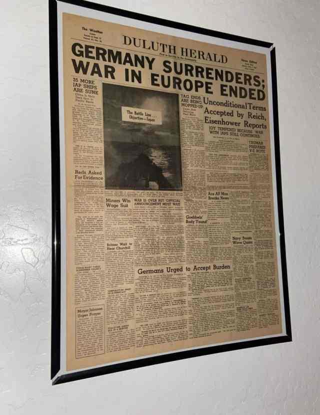Newspaper May 7, 1945