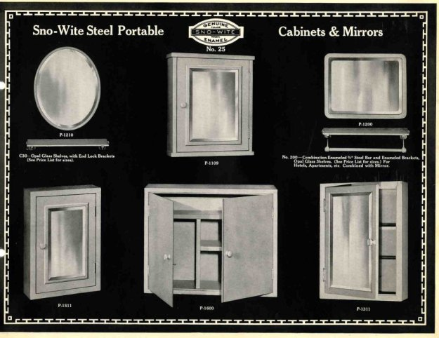 a complete 1925 catalog of recessed soap dishes, towel bars and