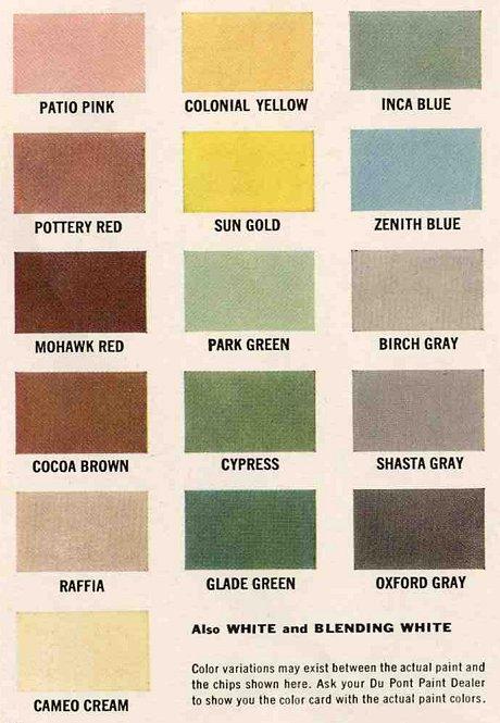 Eichler exterior colors for Eichler paint colors