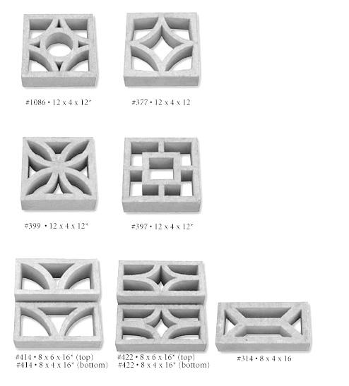 422 Concrete Screen Block Tileco