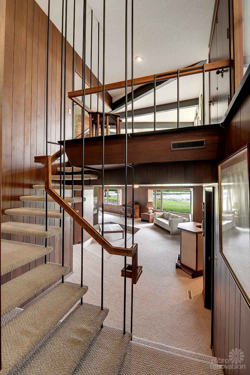 Design Collection Modern Designing Stairs For Vintage Style 50 | Mid Century Modern Stair Handrail | Wrought Iron | Basement | Bannister | Modern Style | Contemporary Curved Staircase