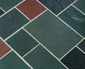 random multi color slate flooring an