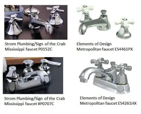 retro bathroom faucets - comparing strom plumbing's mississippi vs