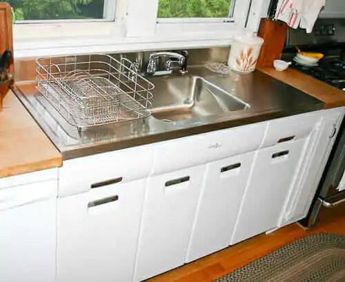 Joe Replaces A Vintage Porcelain Drainboard Kitchen Sink
