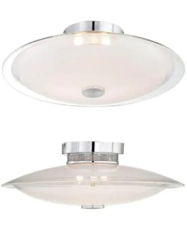 17 bathroom lighting fixtures for a retro modern bathroom remodel     UFO style light