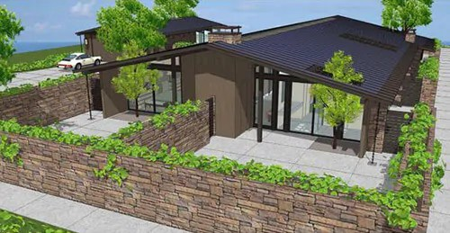 Historic mid century modern house plans for sale today   Retro     Cliff may inspired plan