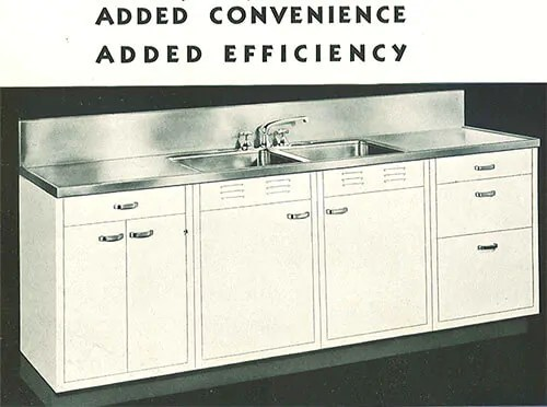 Vintage Steel Kitchen Cabinets With Stainless Sink