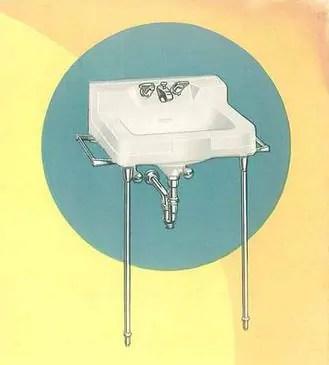 slant back faucet for a vintage