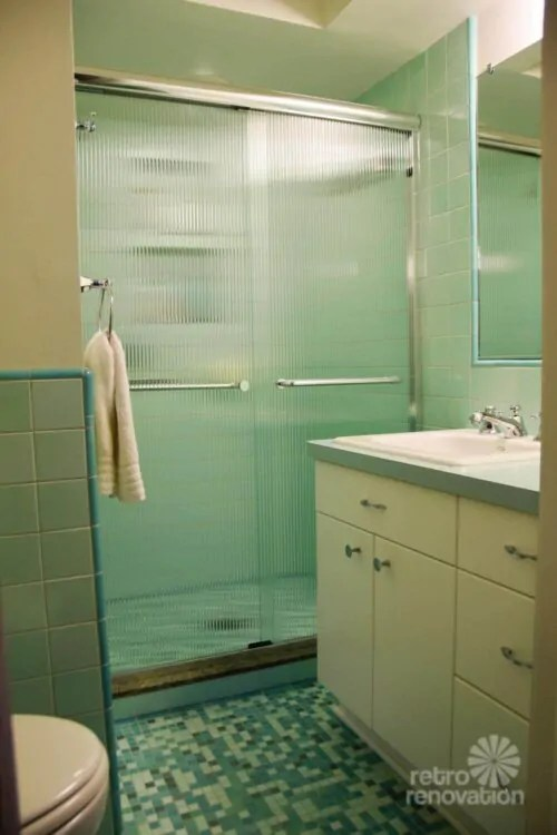 Rebeccas Mid Century Bathroom Remodel Using Nemo Tiles