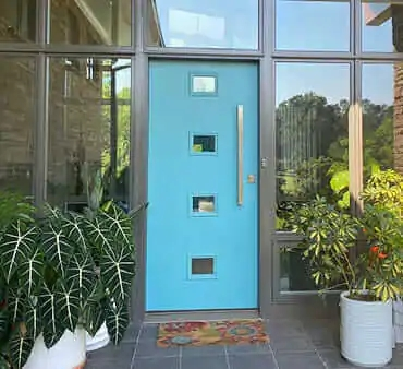 14 Places To Buy Or Diy Mid Century Modern Front Doors | Modern Front Door Steps | Entrance | Bungalow Entrance | Modern House | Contemporary | Garden Entrance