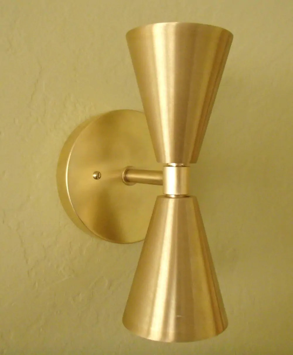 """Six places to buy beautiful double cone """"bowtie"""" lights ... on Modern Outdoor Wall Sconce id=85798"""