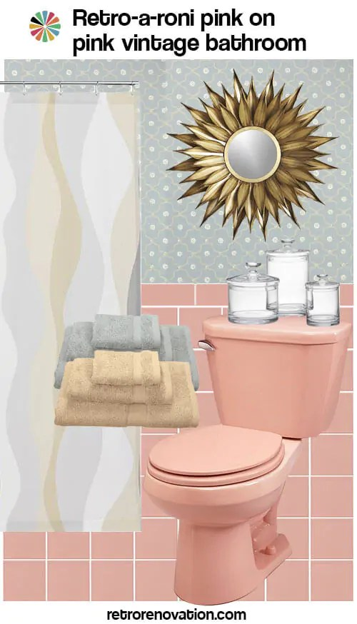 13 ideas to decorate an all-pink tile bathroom - Retro ...