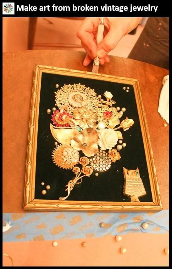 make art vintage jewelry
