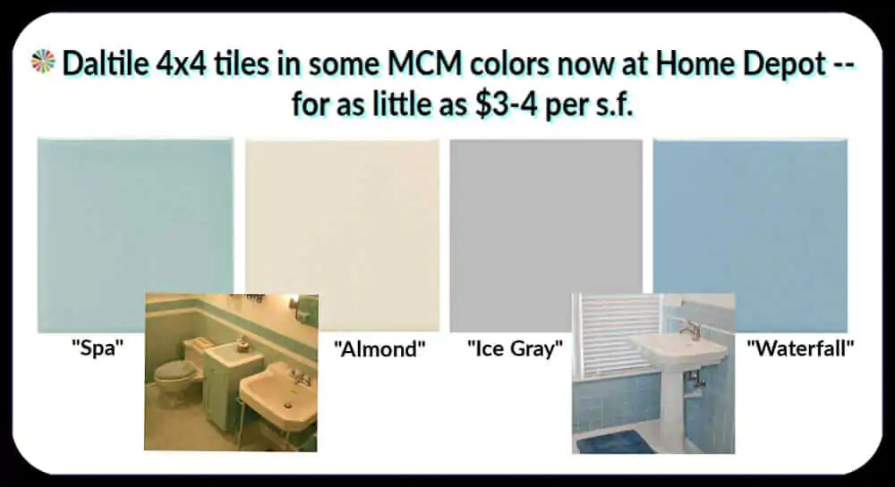 mid century tile colors from daltile