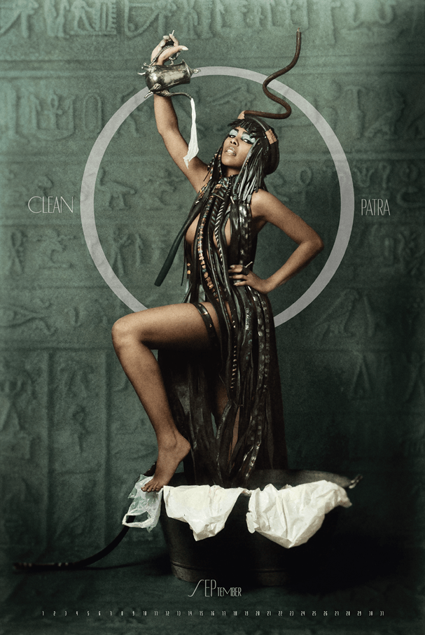 Alice Francis en el Calendario Pin Art Zero Waste Cleopatra