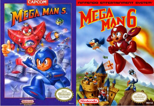 Mega Man 5 and 6 Box Art