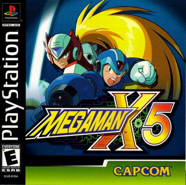 Mega Man X5 Box Art