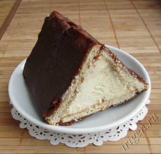 торт без выпечки из печенья и творога 187 Вкусные и простые
