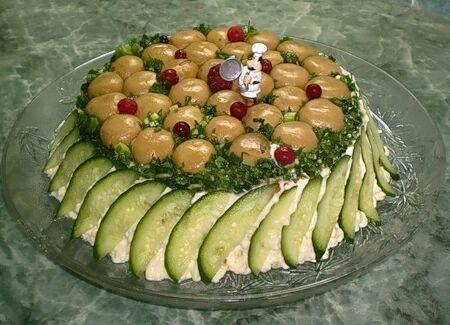Салат грибная поляна рецепт с фото » Вкусные и простые ...