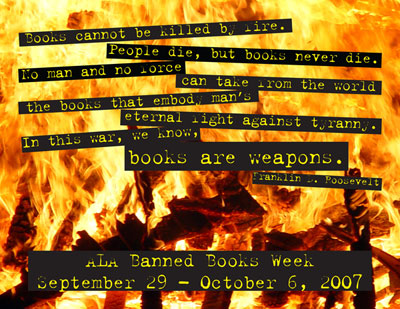 Banned Books Week postcard