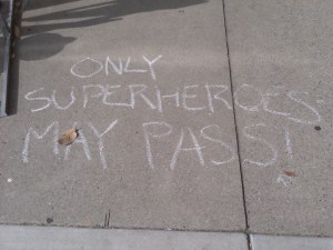 What the chalked message said...