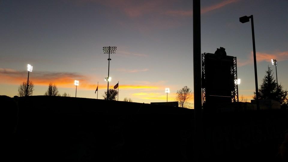 sunset, raley field, west sac