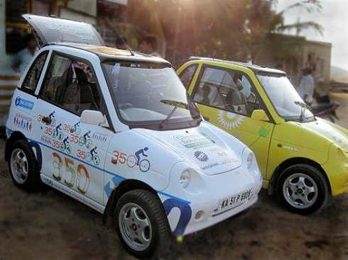 Elektro-Auto mit Solardach