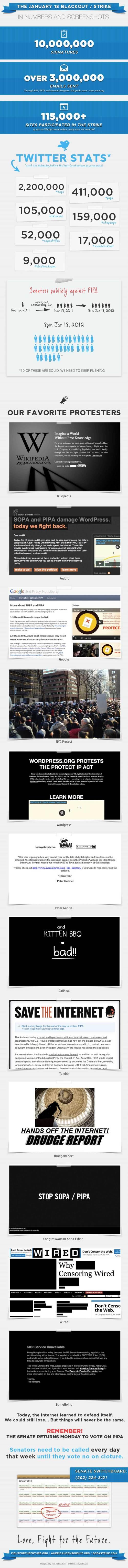 Sopa-Protest: Die Ergebnisse in Zahlen