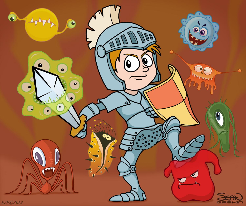 Cartoon Immune System Diagram For Kids