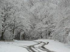 Snowy road in LaCrosse WI