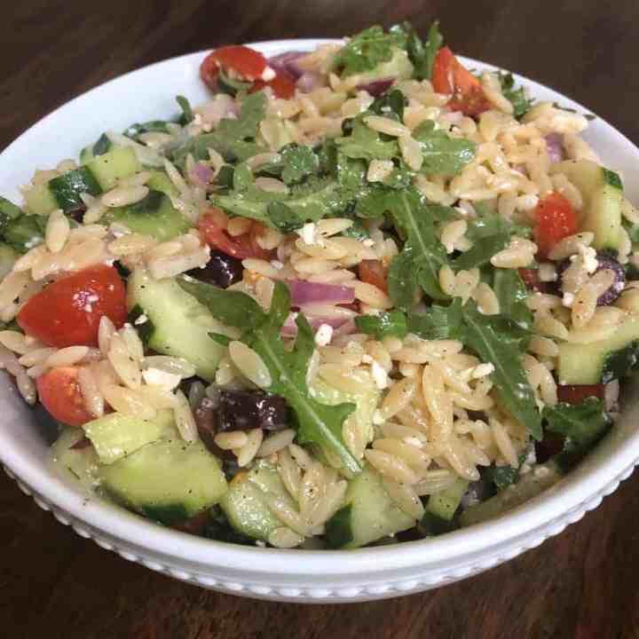Simple Mediterranean Orzo Salad