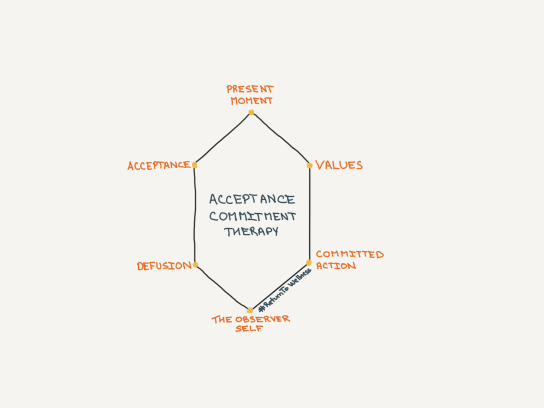 key components of acceptance commitment therapy